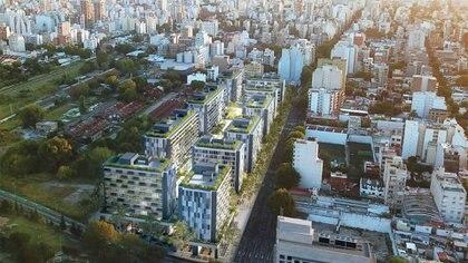 El proyecto de Ciudad Palmera en el barrio de Caballito