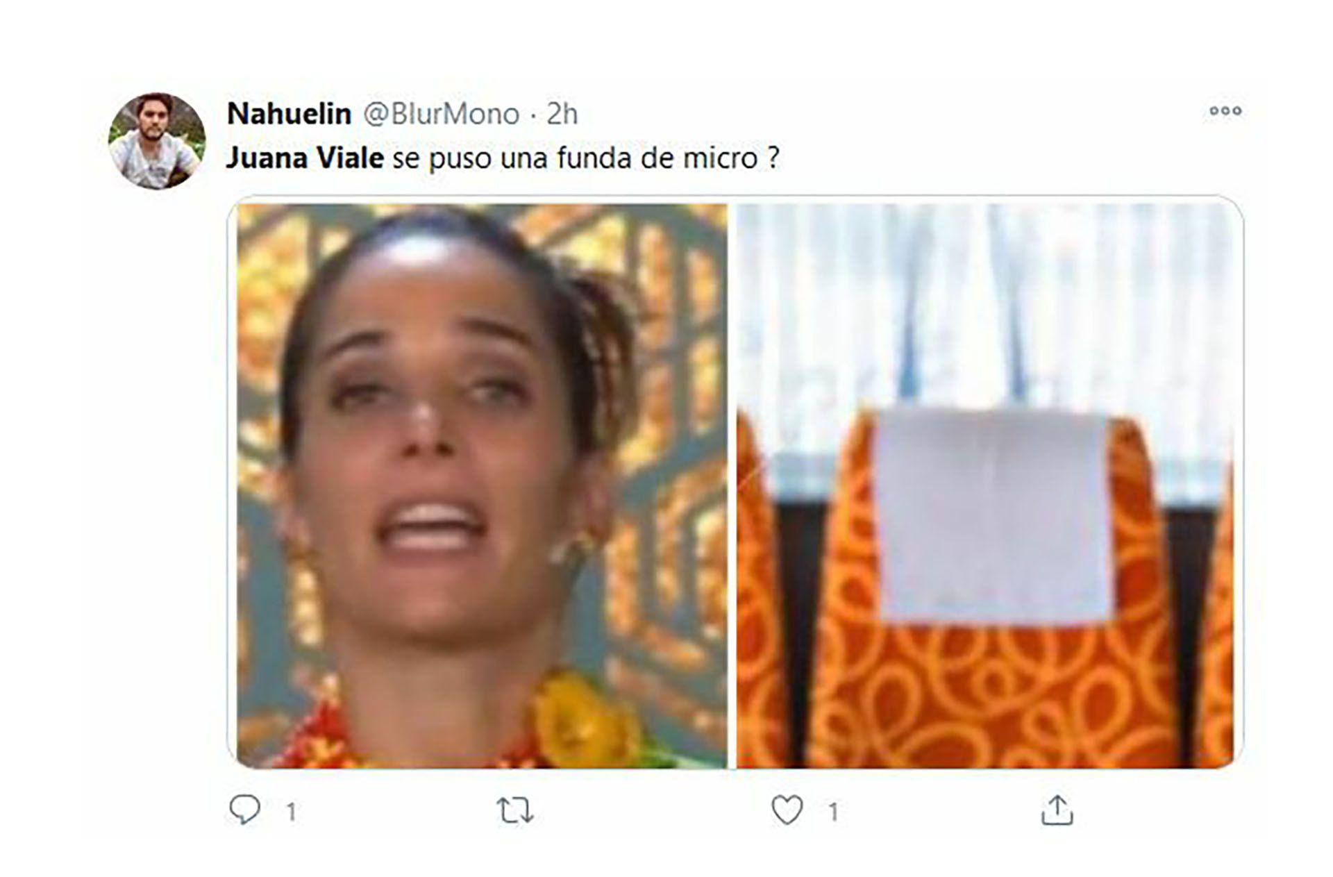 Juana Viale vestido