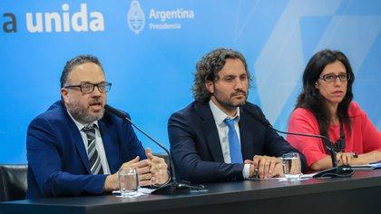 """Kulfas, Cafiero y Español remarcaron que se trata de una recuperación del programa """"Precios Cuidados"""" y que lo que busca es volver a tener precios de referencia del consumo de los argentinos"""