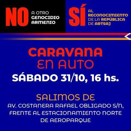 La nueva caravana se realizará este sábado a las 16 horas desde Costanera  Norte