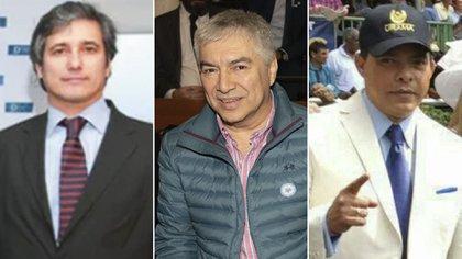 Néstor Marcelo Ramos, Lázaro Báez y Alejandro Ceballos Jiménez (de izq. a der).