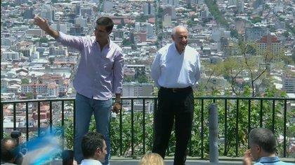Juan Manuel Urtubey junto a su ex compañero de fórmula y líder de Consenso Federal, Roberto Lavagna