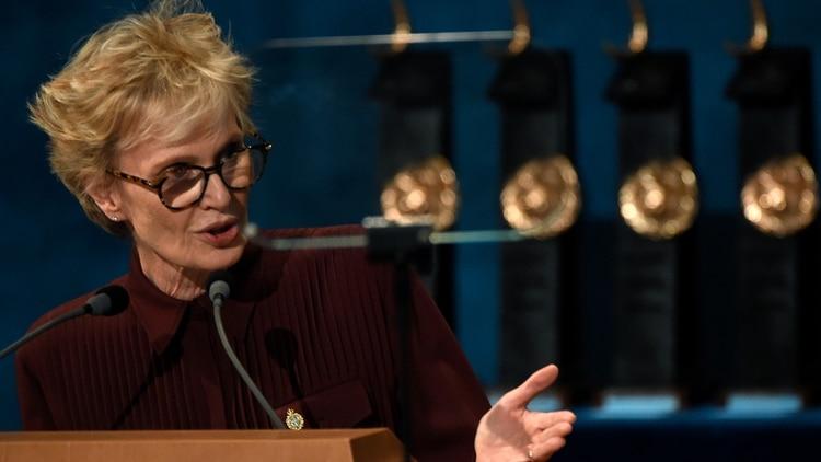 Siri Hustvedt, en los Princesa de Asturias (MIGUEL RIOPA / AFP)