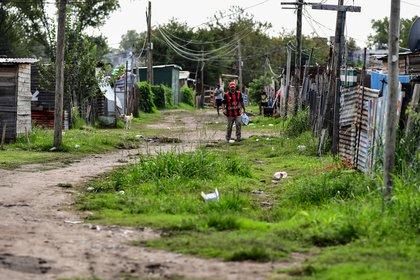 Barrio popular en La Matanza, provincia de Buenos Aires