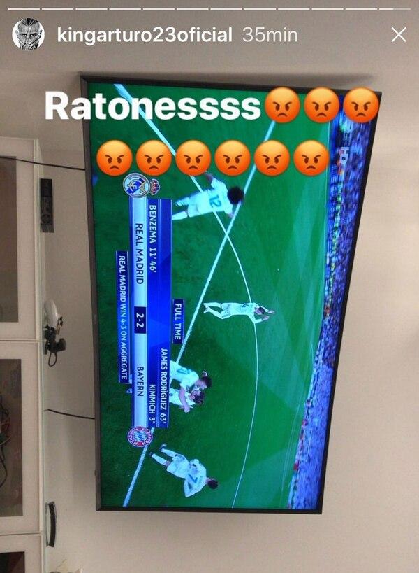 """Tras la eliminación del Bayern Múnich, Arturo Vidal llamó """"ratones"""" a los jugadores del Real Madrid"""