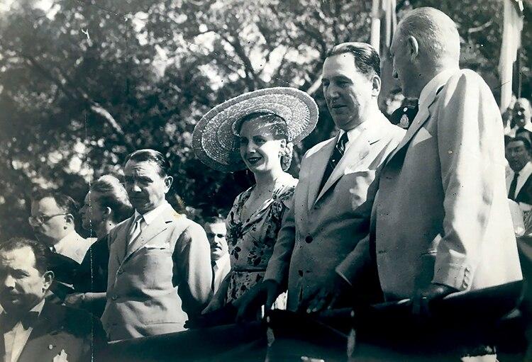 El marqués Luigi Maria Incisa di Camerana, Eva Perón y Juan Perón