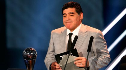 Con fuertes declaraciones, Diego Maradona se refirió a la ausencia de Messi en la gala The Best (Reuters)