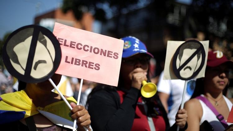 Una de las protestas en Venezuela (Reuters)