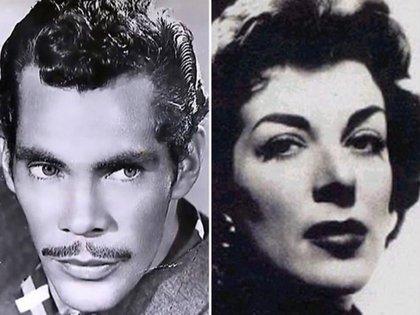 Ramón Valdés y Angelines Fernández, cuando eran figuras del cine de México