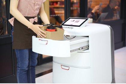 El robot de Segway para hacer entrega de paquetes.