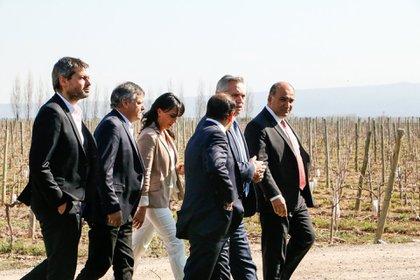 Alberto Fernández, durante su última visita a Mendoza, en la campaña presidcencial de 2019.