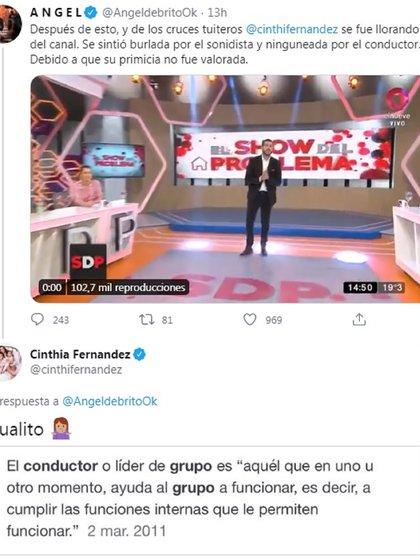 El reproche de Cinthia Fernández a Nicolás Magaldi luego de la broma de mal gusto del sonidista