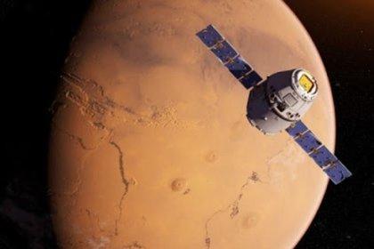 La misión Tianwen 1 recreada en su aproximación a Marte (ANEC)