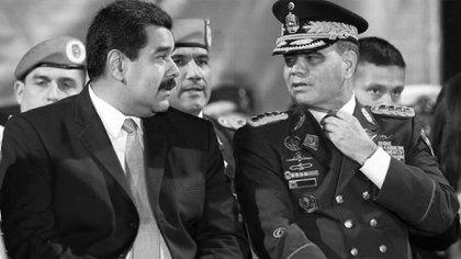 El dictador Nicolás Maduro y Vladimir Padrino López, su ministro de Defensa y principal emblema del Ejército de Venezuela.