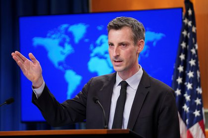 Ned Price, portavoz del departamento de Estado de EEUU. REUTERS/Kevin Lamarque/Pool
