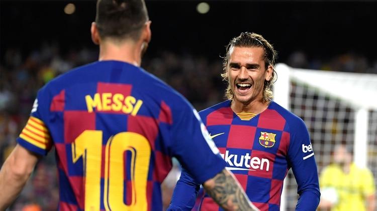 Messi habló de su relación con Griezmann y su llegada al conjunto azulgrana (Photo by LLUIS GENE / AFP)