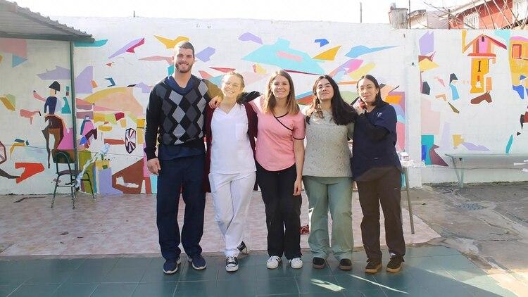 Franco, Sofía, Candela, Martina y Bianca en una de sus últimas charlas