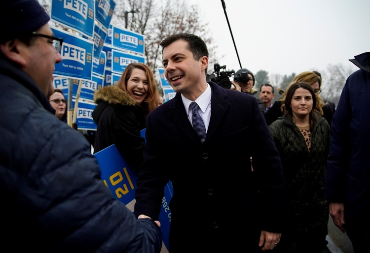 Pete Buttigieg en New Hampshire. REUTERS/Eric Thayer