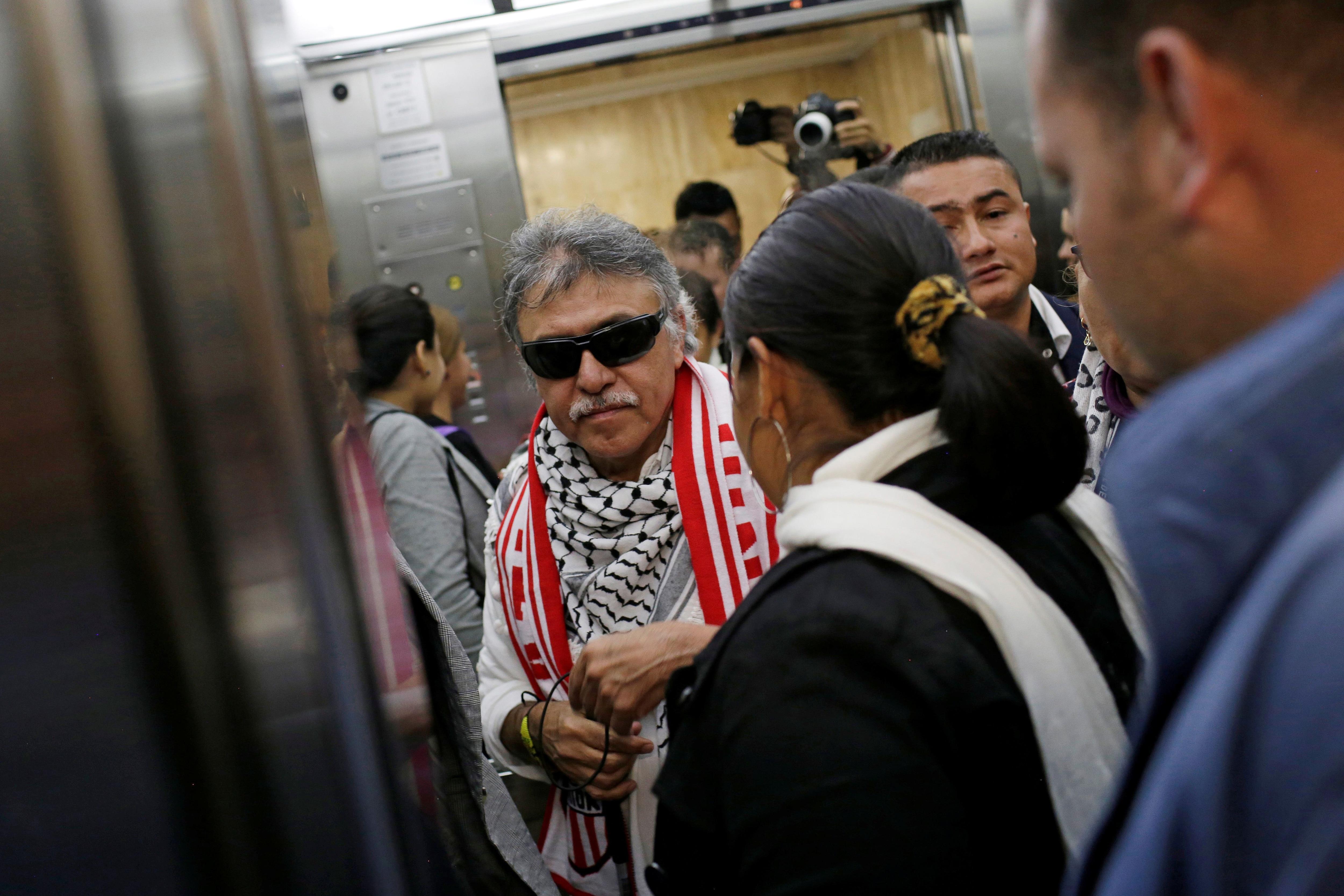 Santrich hace su arribo al Congreso de Colombia. (REUTERS/Andres Torres Galeano)