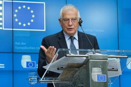 Josep Borrell, el alto representante de la UE para la Política Exterior, rechazó en nombre del bloque la decisión del TSJ chavista de reconocer a Luis Parra como presidente de la Asamblea Nacional (Olivier Hoslet/Pool vía Reuters)