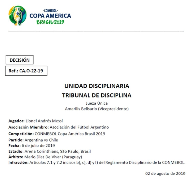 El fallo estuvo a cargo de la vicepresidenta venezolana del Tribunal Amarilis Belisario