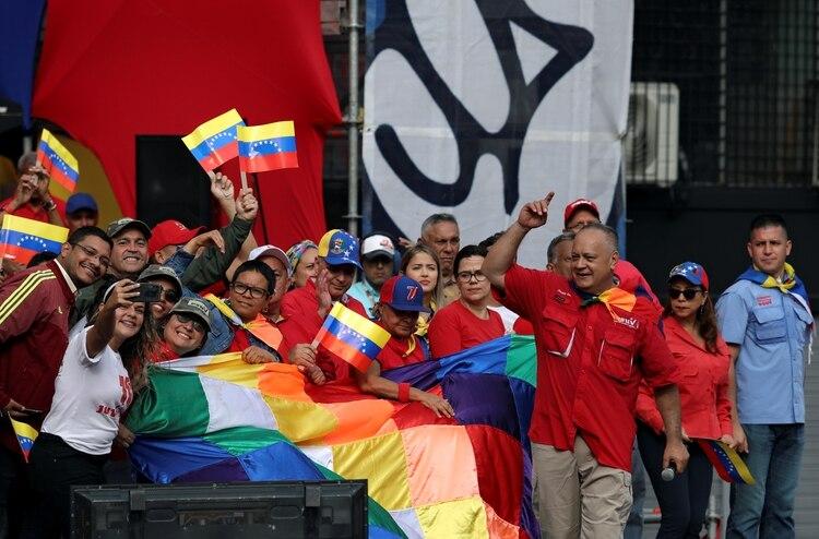 Diosdado Cabello, actual presidente de la Asamblea Constituyente chavista en Venezuela (REUTERS/Fausto Torrealba NO RESALES. NO ARCHIVES)