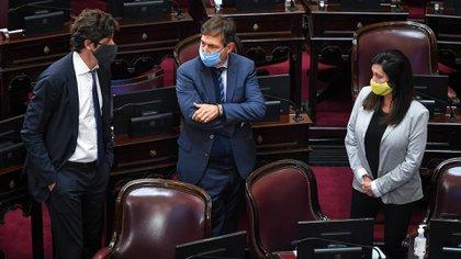 Martín Lousteau, Luis Naidenoff y Laura Rodríguez Machado
