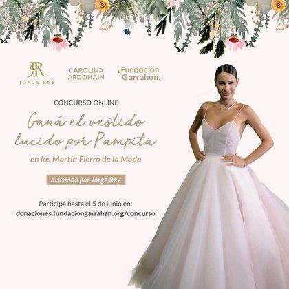 Quien gane puede ser el afortunado de tener el vestido de Pampita y todo lo recaudado será donado a la Casa Garrahan