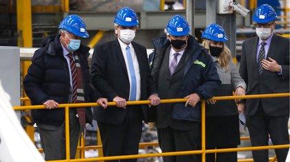 Alberto Fernández con empresarios en el Día de la Industria