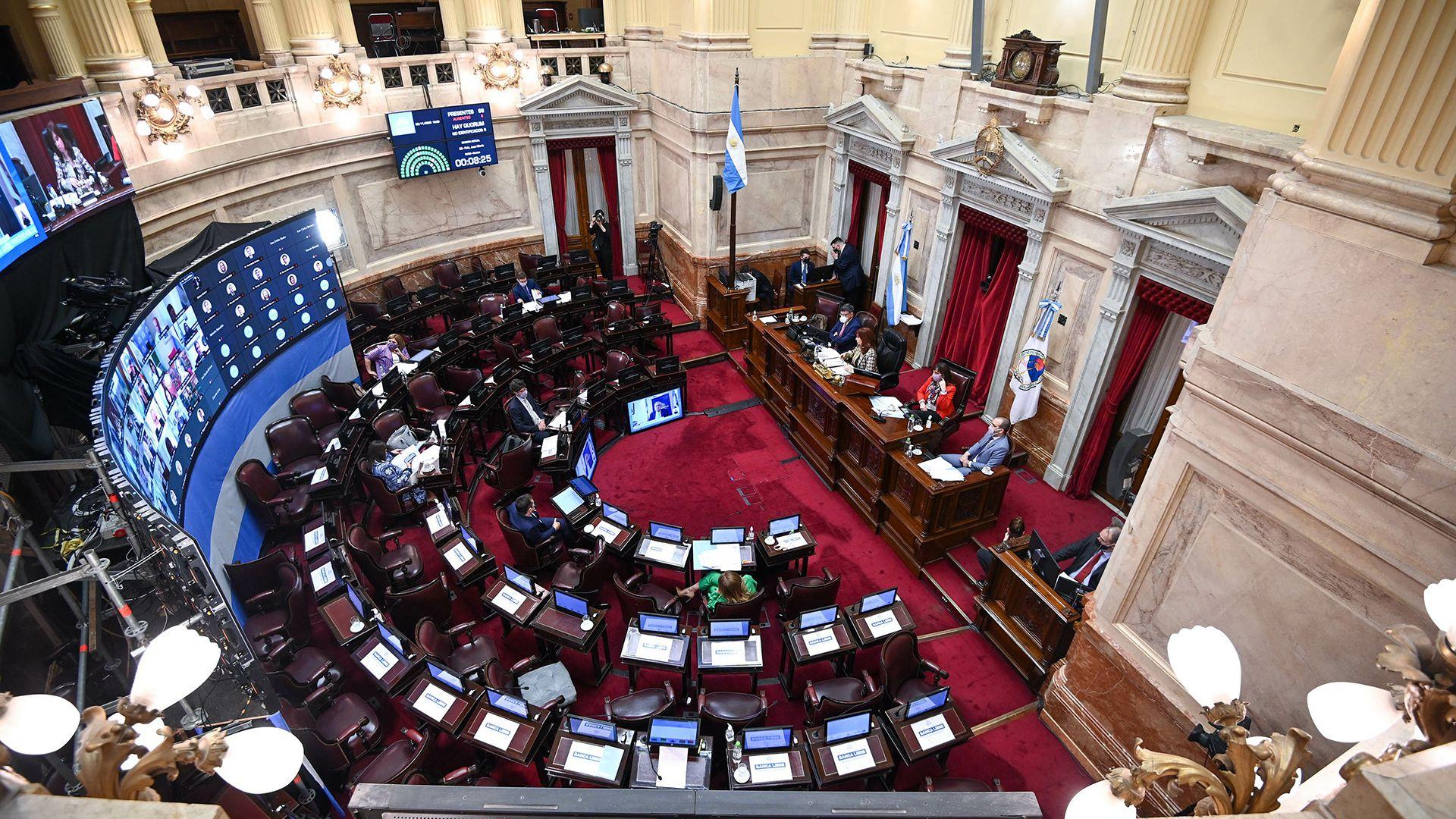 Sesión Pública Especial remota del Honorable Senado de la Nación 5 de noviembre