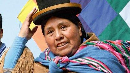 la líder campesina Felipa Huanca, del gubernamental Movimiento al Socialismo (MAS)