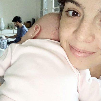 Dalma Maradona junto a su hija Roma Caldarelli Maradona