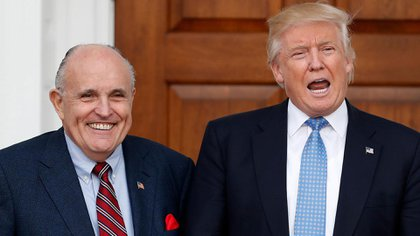 Rudolph Giuliani y Donald Trump