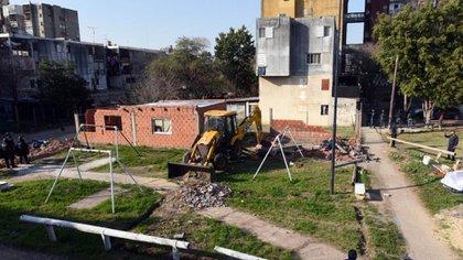Imagen del operativo realizado en Fuerte Apache.