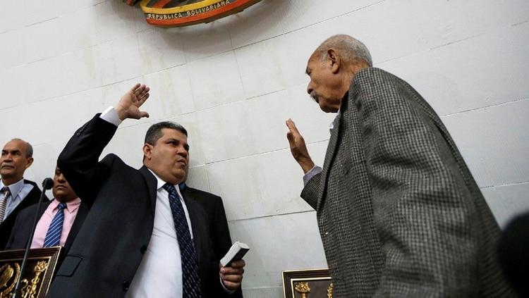 La jura de Luis Parra (Reuters)