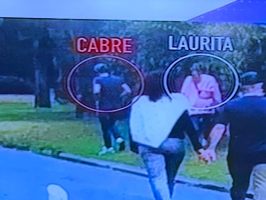 El reencuentro de Nicolás Cabré y Laurita Fernández