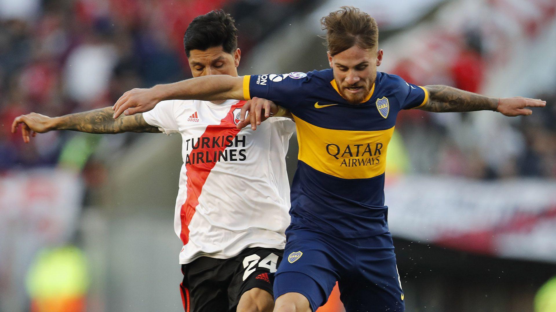 La solidez de Enzo Pérez y el despliegue de Alexis Mac Allister fue de lo mejor del partido, sin dudas las figuras de cada equipo