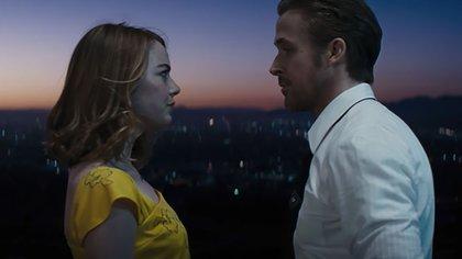 Emma Stone y Ryan Gosling en La ciudad de las estrellas