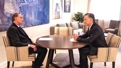 Mauricio Macri y Miguel Ángel Pichetto, hace tres semanas, en Olivos