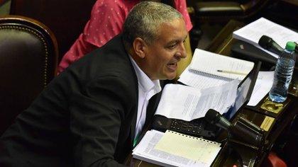 El legislador del FPV Horacio Pietragalla se enfrentó a los gritos con legisladores del oficialismo  (Amilcar Orfali)