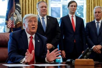 El presidente de Estados Unidos, Donald Trump, dijo que no tiene programado vacunarse contra la COVID-19. (Foto: Carlos Barría/Reuters)