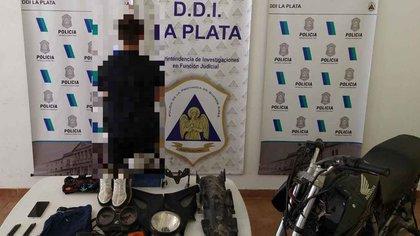 A.U, otro de los menores detenidos por la DDI platense.