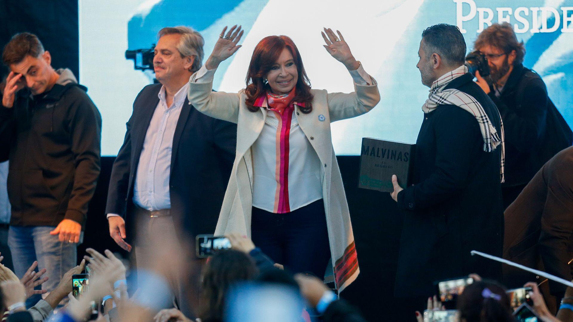 Alberto Fernández y Cristina Kirchner. (Nicolás Aboaf)