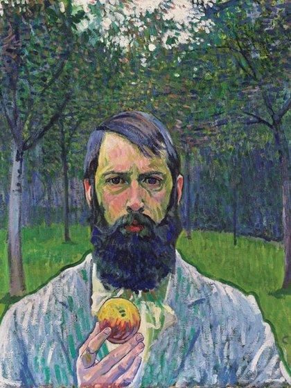 """""""Autorretrato con manzana"""", de Cuno Amiet (1903)"""