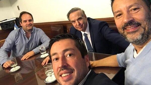Maggiotti, Nardini y Menéndez, en el despacho de Miguel �ngel Pichetto