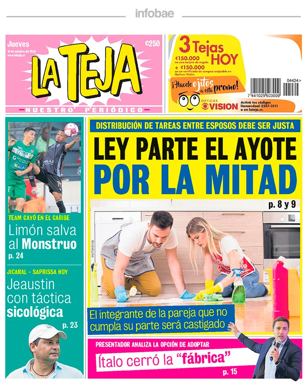 La teja – Costa Rica – 10 de Octubre de 2019