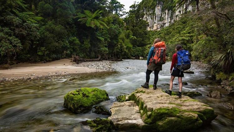 El parque nacional de Paparoa estásituado en la costa oeste de la Isla del Sur de Nueva Zelanda