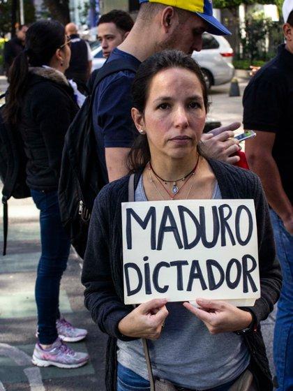 Imagen del día de la protestas en Ciudad de México contra el régimen de Maduro (Foto: Gibrán Casas)