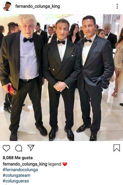 La imagen de Colunga con Stallone que circuló en redes