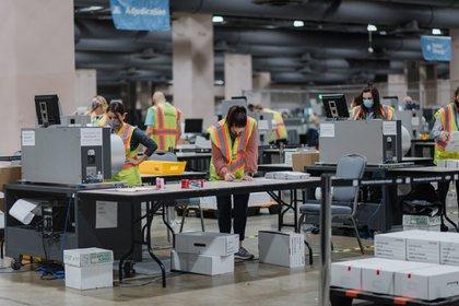 El conteo de votos en Filadelfia, Pennsylvania, el martes